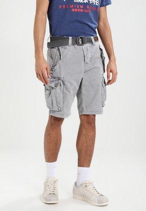 CORE CARGO HEAVY - Shorts - mottled grey