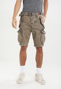 Superdry - CORE CARGO HEAVY - Shorts - dust cloud - 0