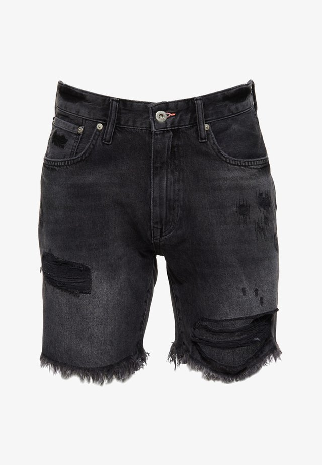 CONOR - Jeansshort - black