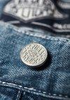 Superdry - EARL WORKER - Szorty jeansowe - blue