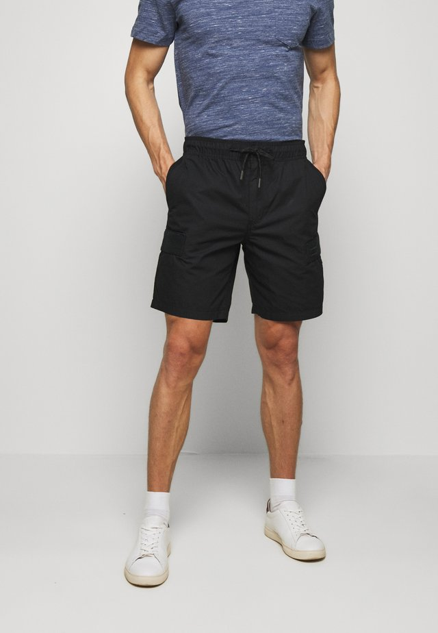CARGO - Cargo trousers - black