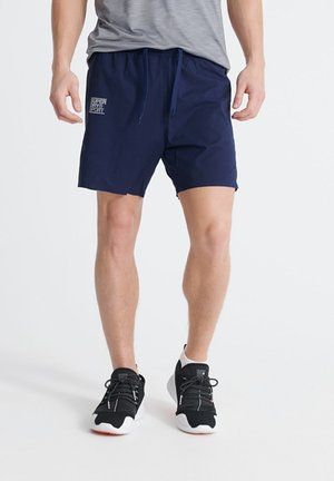 SUPERDRY TRAINING DOUBLE LAYER SHORTS - Shorts - beechwater blue