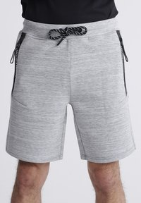 Superdry - SUPERDRY GYMTECH SHORTS - Sports shorts - light grey marl - 1
