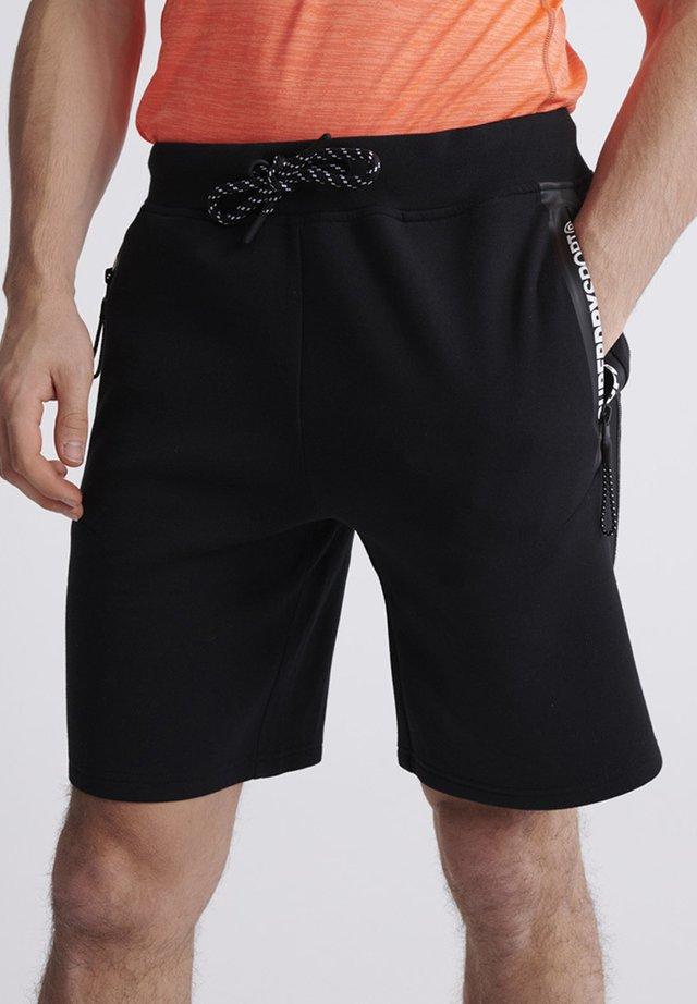 SUPERDRY GYMTECH SHORTS - Sports shorts - black