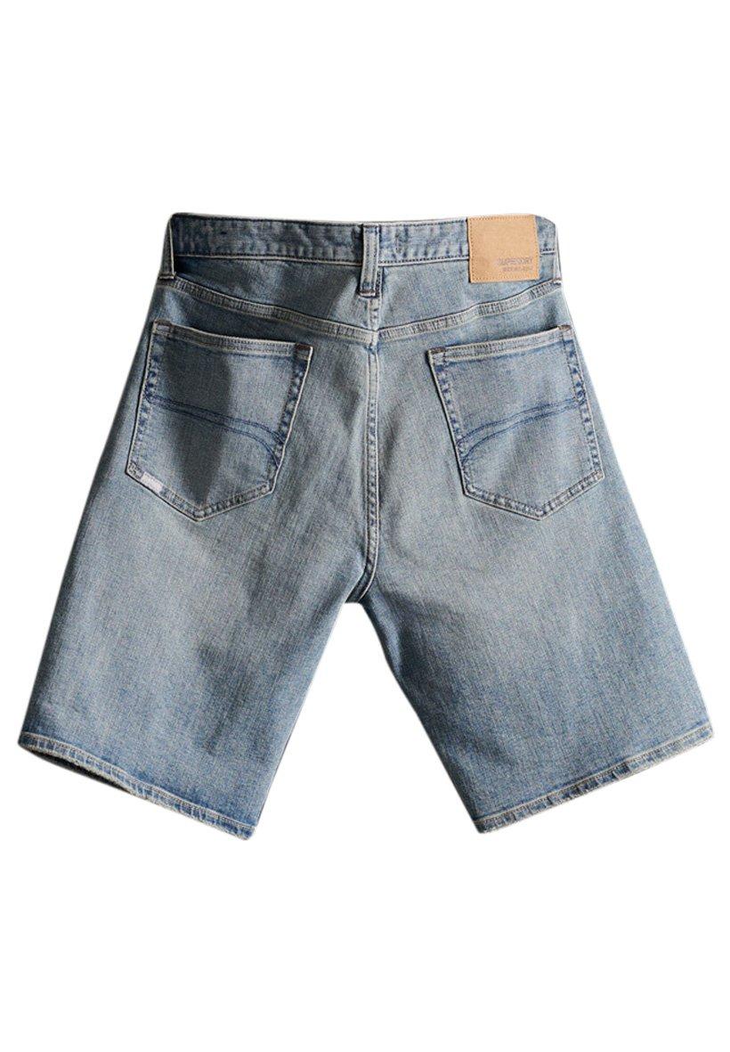 Superdry Tyler Slim Shorts - Jeansshorts El Passo Vintage Blue