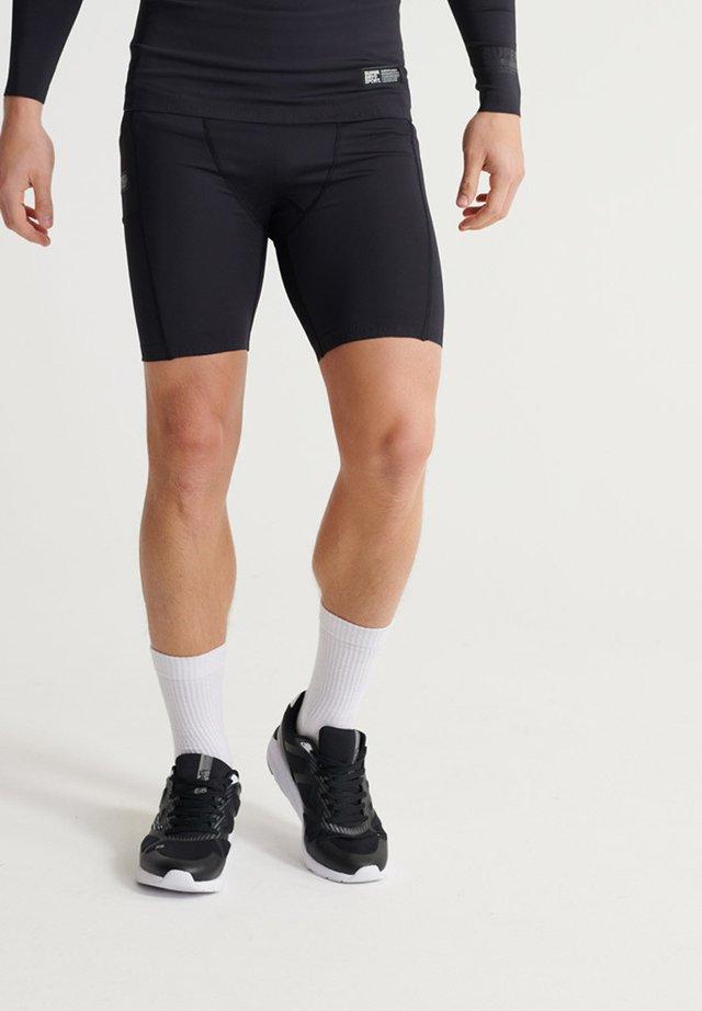 SUPERDRY TRAINING COMPRESSION SHORTS - Shorts - black