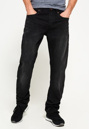 Jeans relaxed fit - rinse pitch black