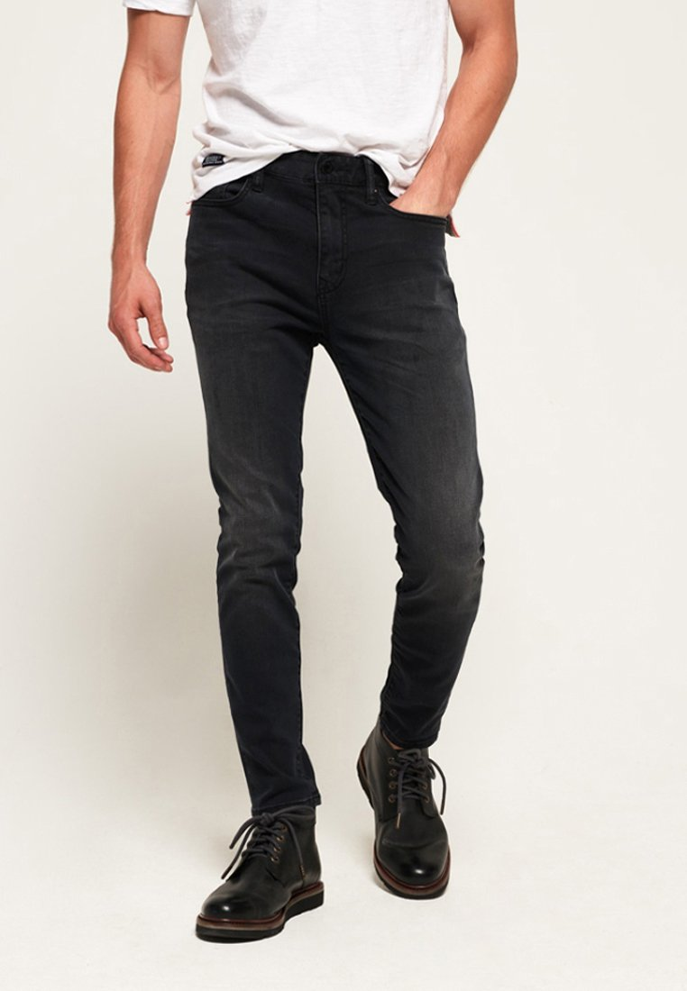 Superdry - TRAVIS - Jeans Skinny Fit - black