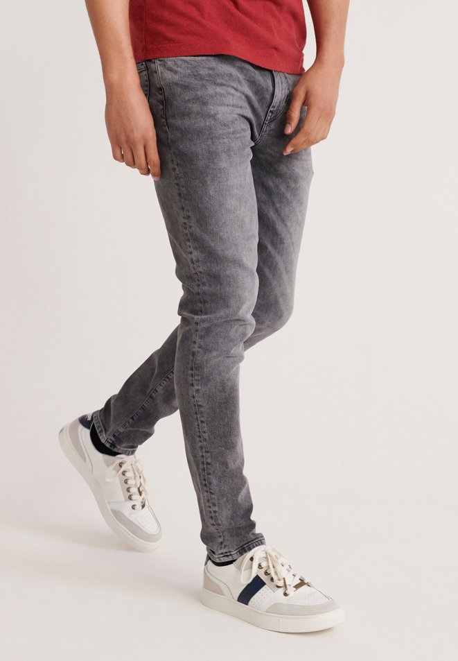 Superdry - TRAVIS  - Jeans Skinny Fit - grey