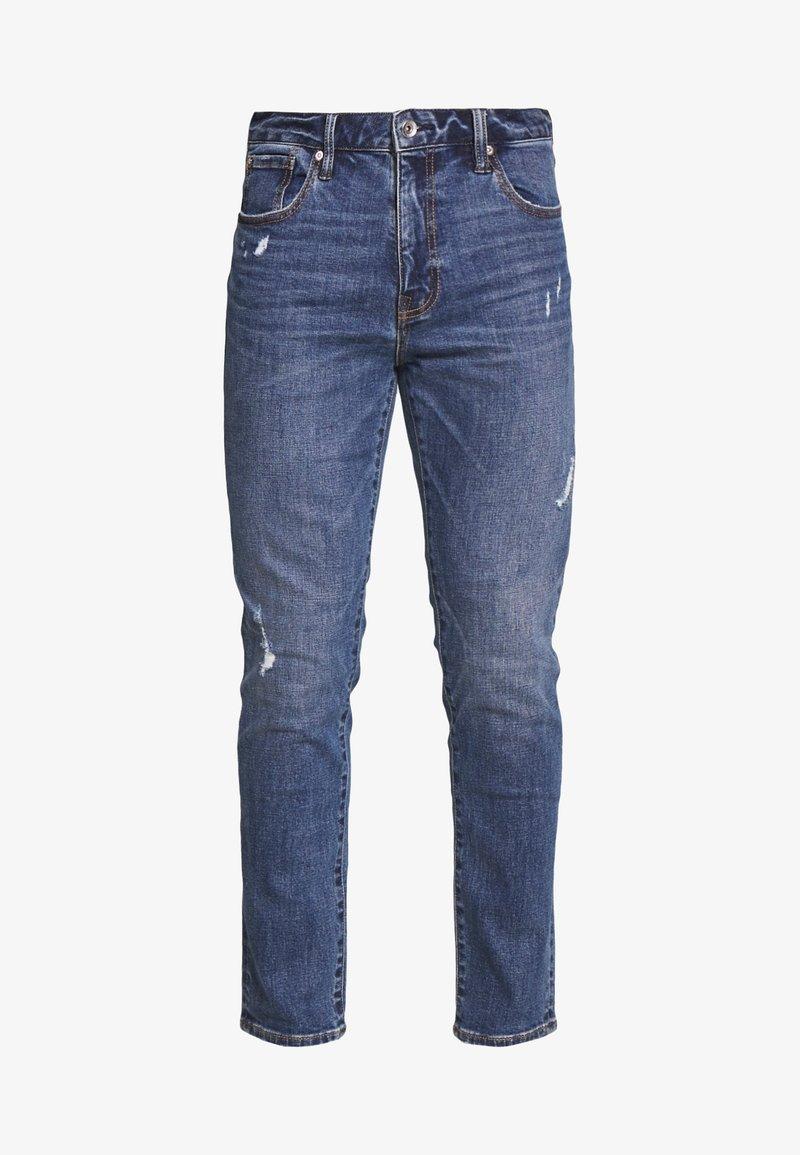 Superdry TYLER SLIM - Jeans slim fit - murphy mid blue rip