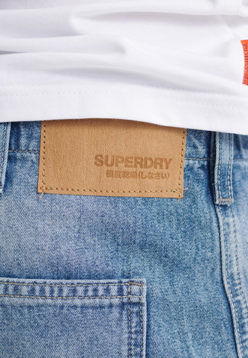Superdry Lionel Easy Fatigue Jeans - Straight Leg Ivins Mid Blue Stone