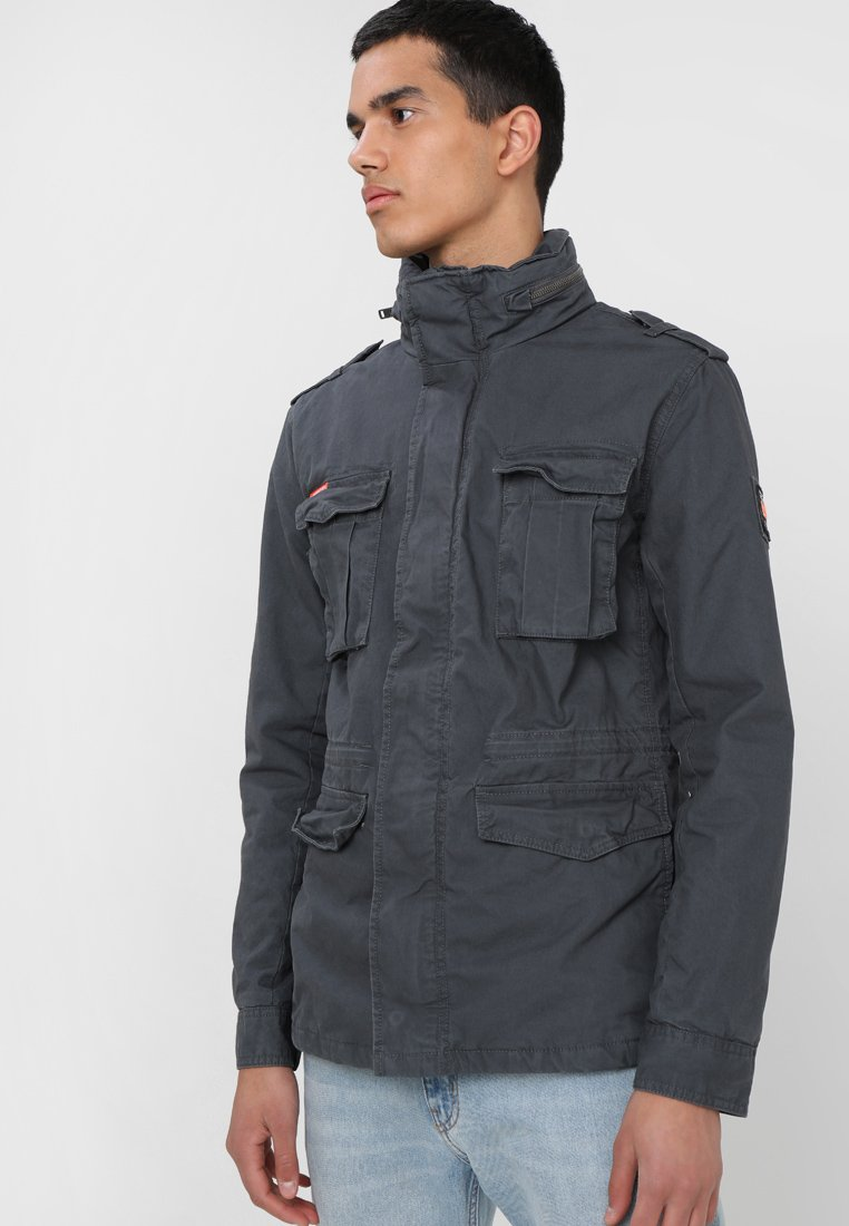 Superdry - CLASSIC ROOKIE MILITARY JACKET - Leichte Jacke - carbon grey