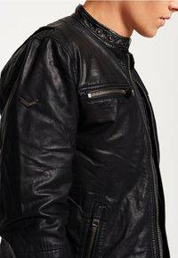 Superdry - REAL HERO - Leren jas - black - 3