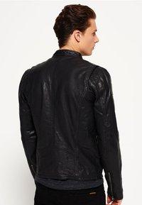 Superdry - REAL HERO - Leren jas - black - 2