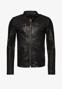 Superdry - REAL HERO - Leren jas - black - 5