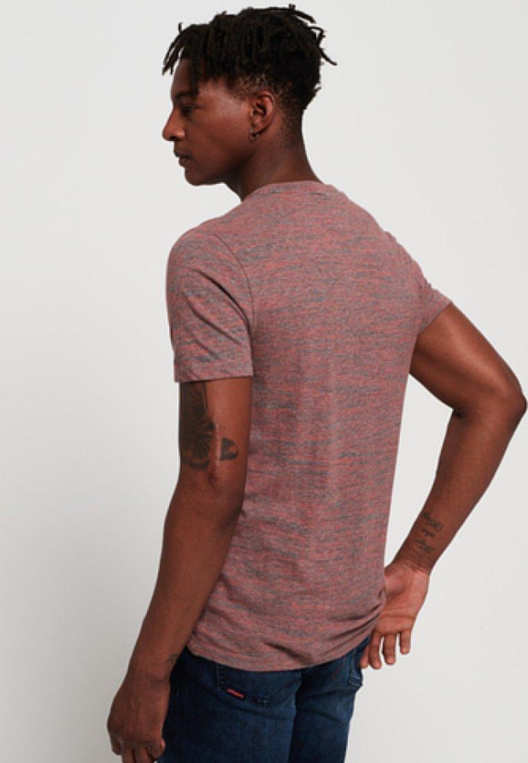 Superdry ORANGE LABEL - T-shirt basique - red/grey