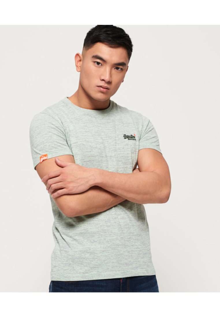 Superdry - ORANGE LABEL - T-shirts - green digital
