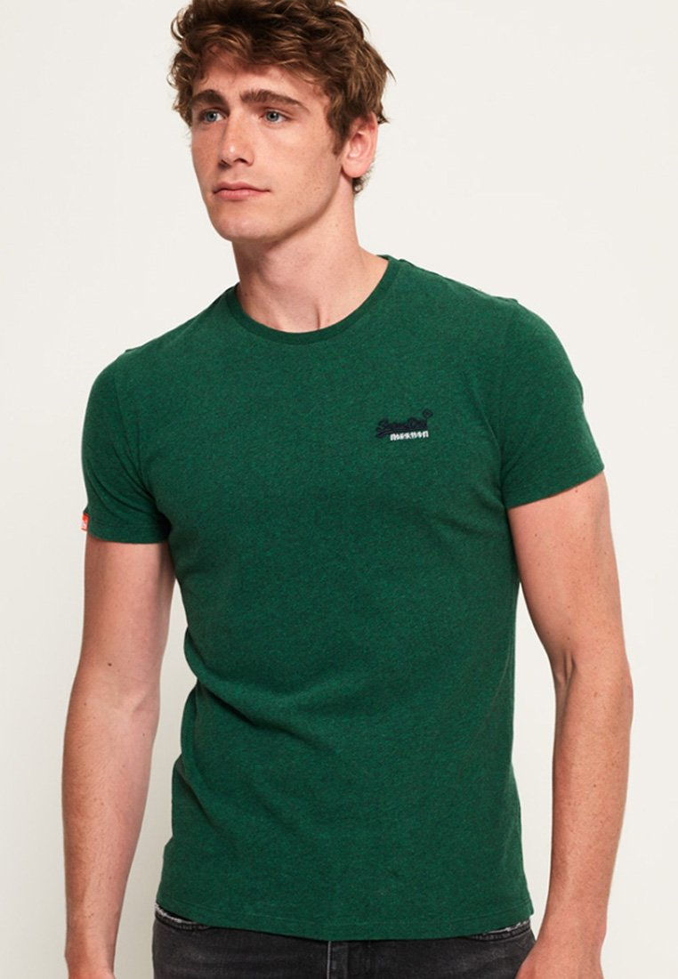 Superdry - ORANGE LABEL - Camiseta básica - olive