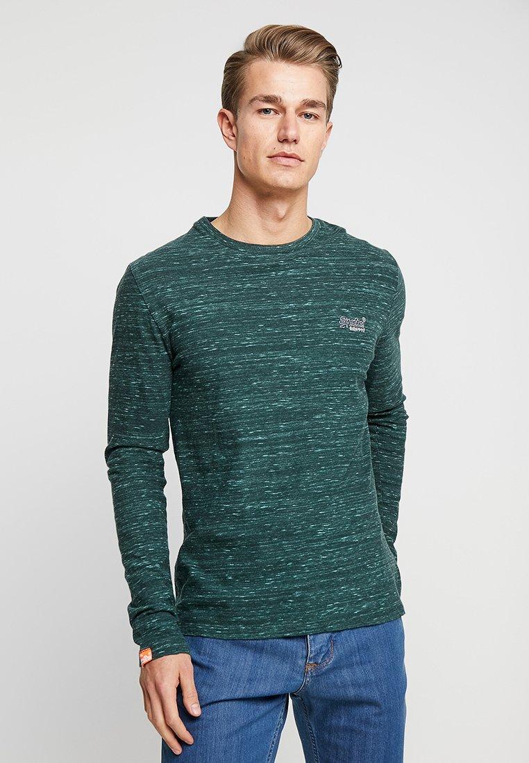 Superdry - ORANGE LABEL - Camiseta de manga larga - sea green space dye