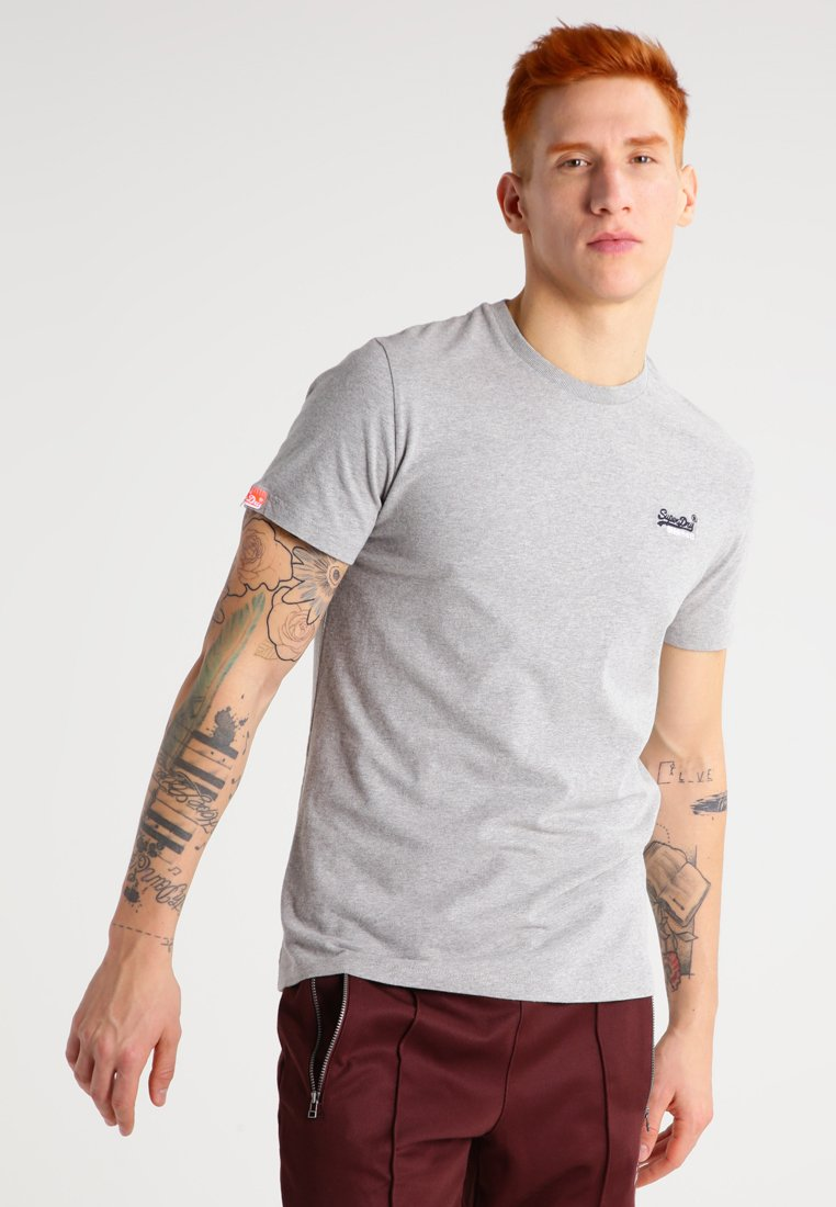 Superdry - T-Shirt basic - grey marl