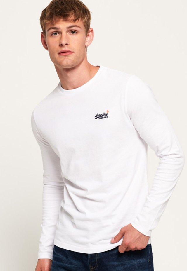 ORANGE LABEL VINTAGE TEE - Pitkähihainen paita - white