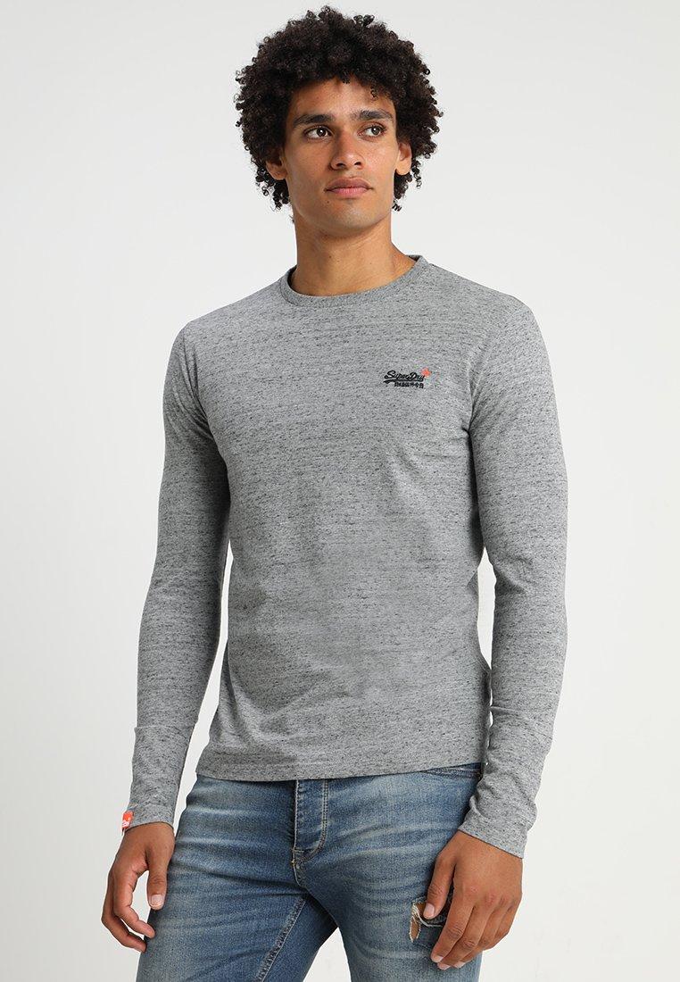 Superdry - ORANGE LABEL VINTAGE TEE - Langarmshirt - flint grey grit