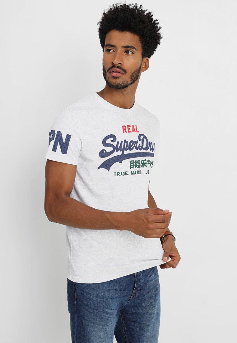 Superdry - VINTAGE LOGO TRI TEE - Print T-shirt - ice marl
