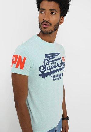 HIGH FLYERS TEE - Print T-shirt - pastel mint marl