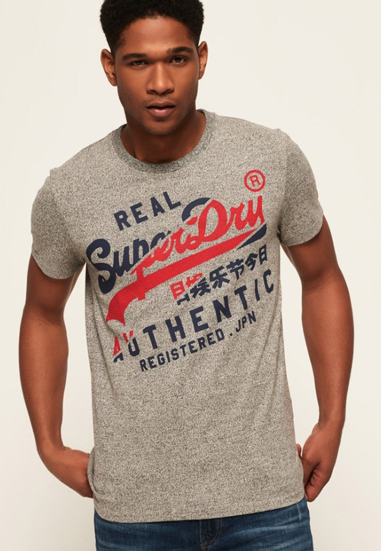 Authentic Grey Vintage Superdry shirt Con TeeT Light Stampa PXnO8w0k