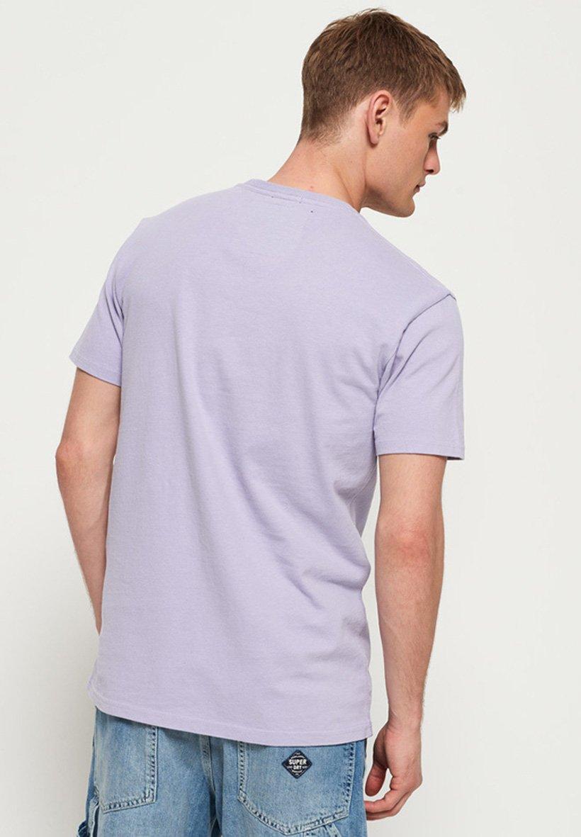 Superdry Worldwide Ticket - T-shirt Print Lilas Pastel tTk6Krqt yuS3kFKM