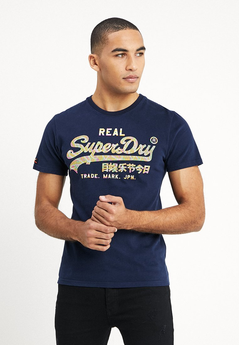 Superdry - VINTAGE LOGO TEE - Camiseta estampada - gardena navy