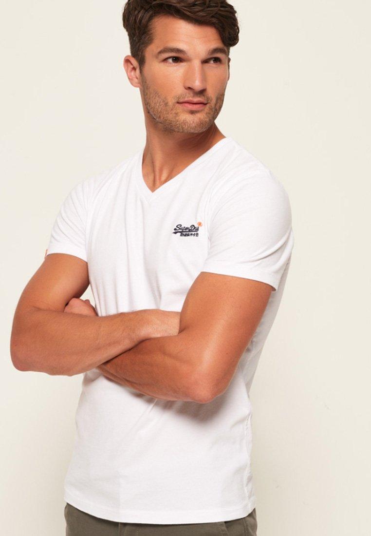 Superdry - VINTAGE  - T-Shirt basic - white