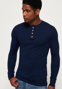 Superdry - HERITAGE GRANDAD - Långärmad tröja - blue - 0