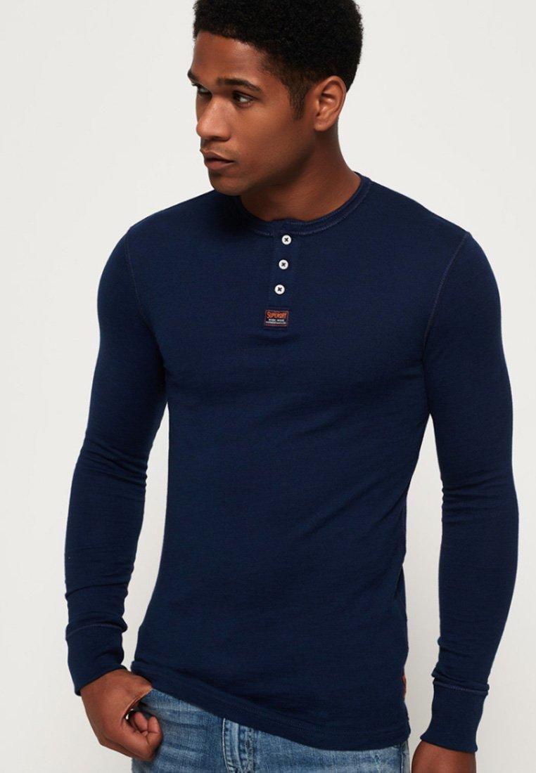 Superdry - HERITAGE GRANDAD - Långärmad tröja - blue
