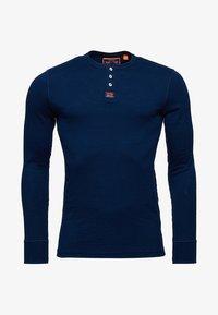 Superdry - HERITAGE GRANDAD - Långärmad tröja - blue - 4