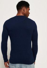 Superdry - HERITAGE GRANDAD - Långärmad tröja - blue - 2
