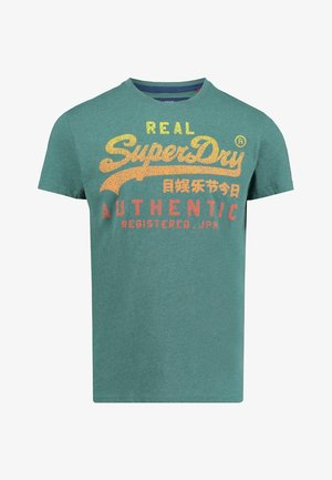 VINTAGE AUTHENTIC FADE TEE - T-shirt med print - turquoise