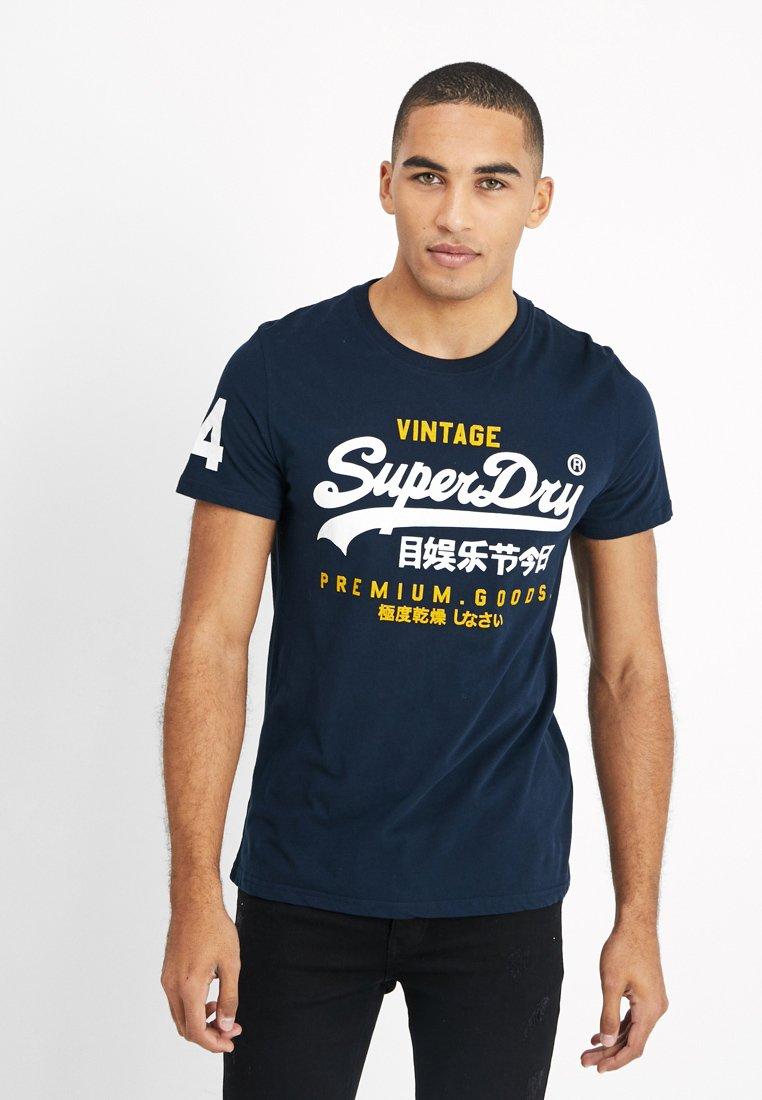 Superdry - PREMIUM GOODS DUO LITE TEE - T-shirt imprimé - navy
