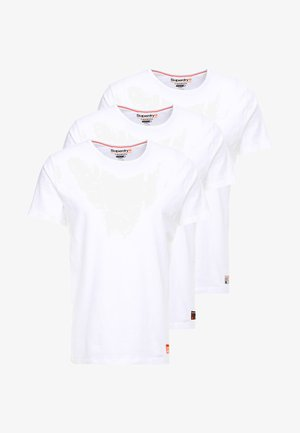 SLIM TEE 3 PACK - Camiseta básica - laundry white