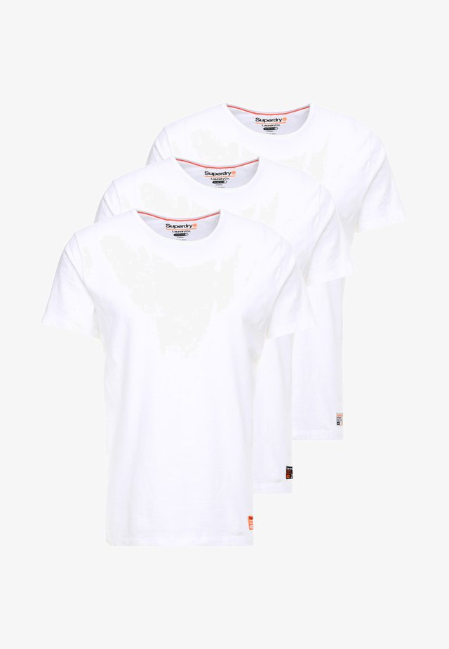 SLIM TEE 3 PACK - T-shirt basic - laundry white