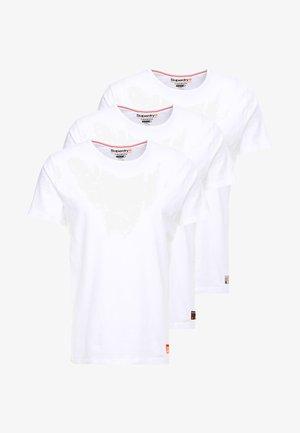SLIM TEE 3 PACK - Jednoduché triko - laundry white