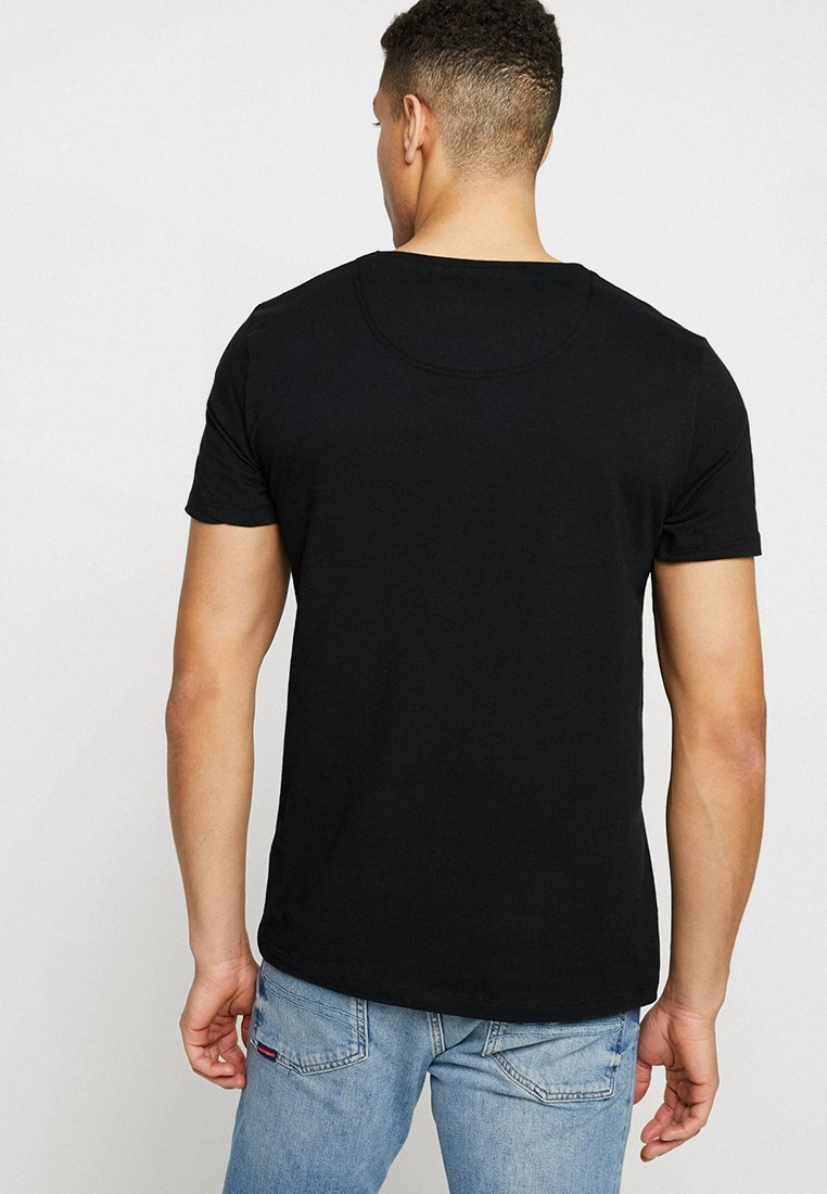 Superdry SLIM TEE 3 PACK - T-shirt basic - laundry black