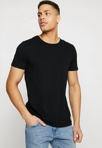 Superdry - SLIM TEE 3 PACK - T-shirt basique - laundry black - 1
