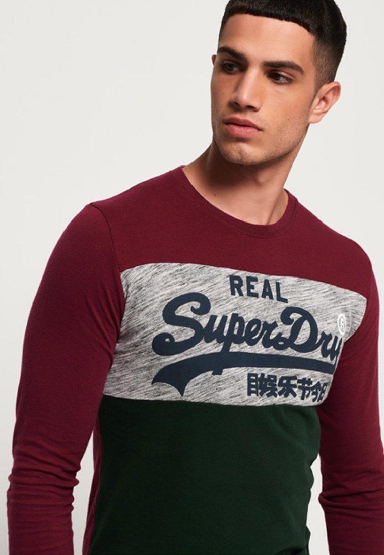 Superdry À LonguesBordeaux T Manches shirt OPX0kw8n