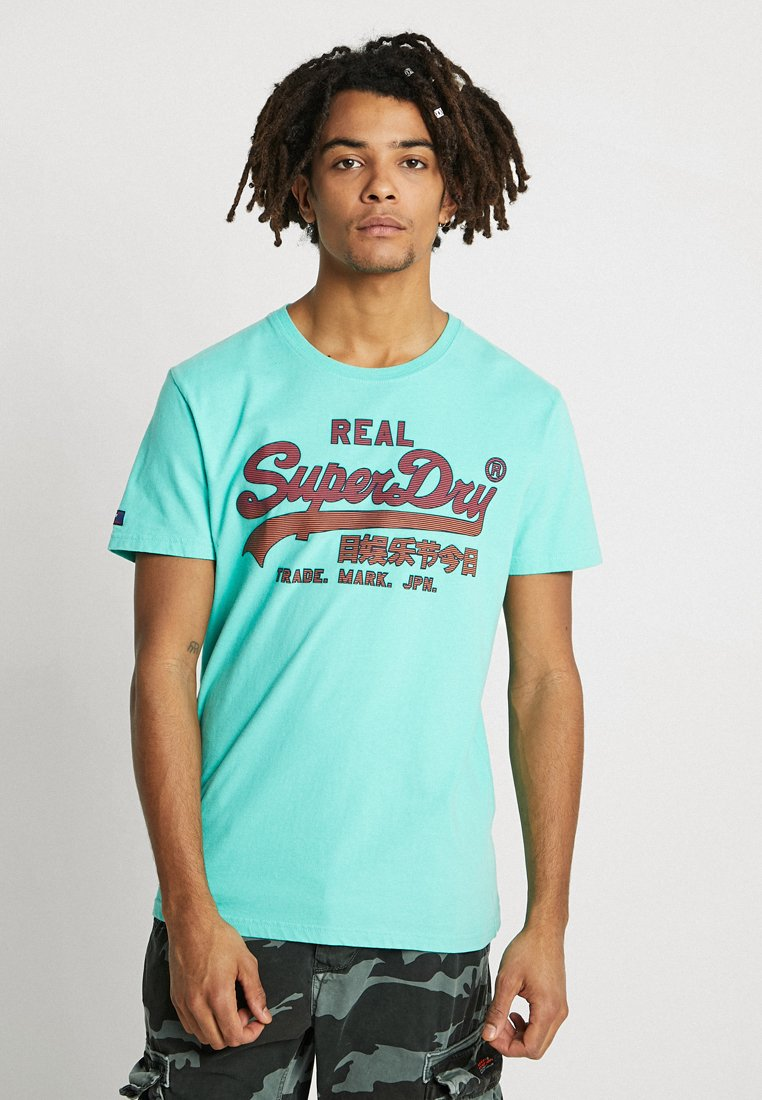 Superdry - VINTAGE LOGO FADE MID WEIGHT TEE - Print T-shirt - skate mint