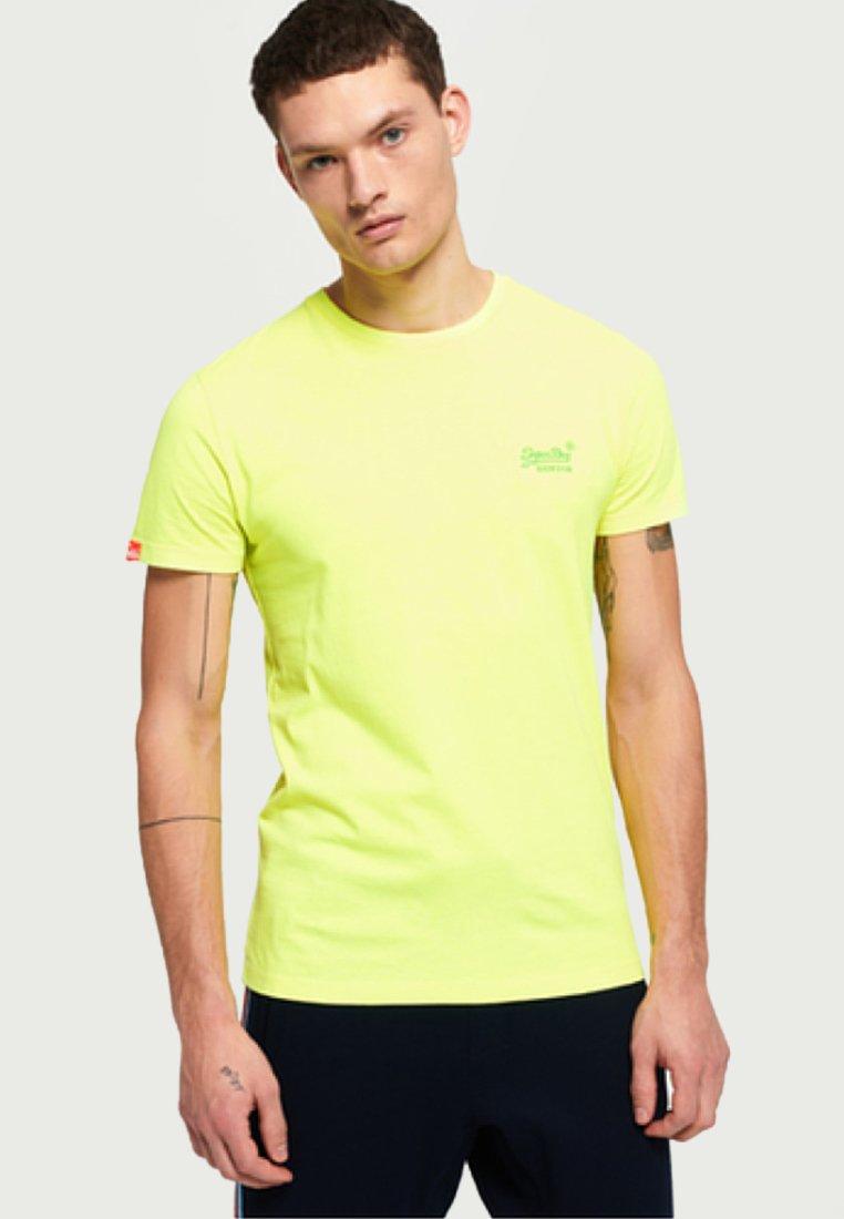 Label shirt Superdry Neon TeeT Basique Ice Yellow rBoedxWC