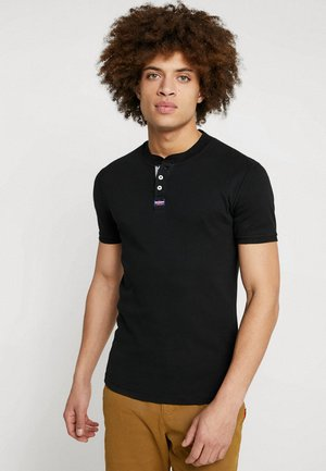 HERITAGE GRANDAD - T-shirt - bas - black