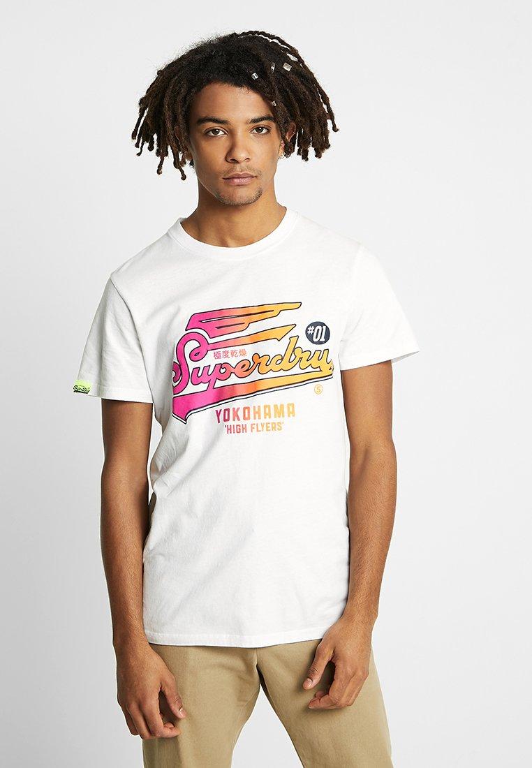 Superdry - HIGH FLYERS HYPER CLASSICS LITE TEE - Print T-shirt - white