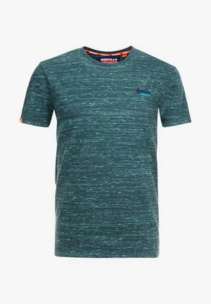 LABEL VINTAGE EMBROIDERY TEE - T-shirt basic - sea green space dye