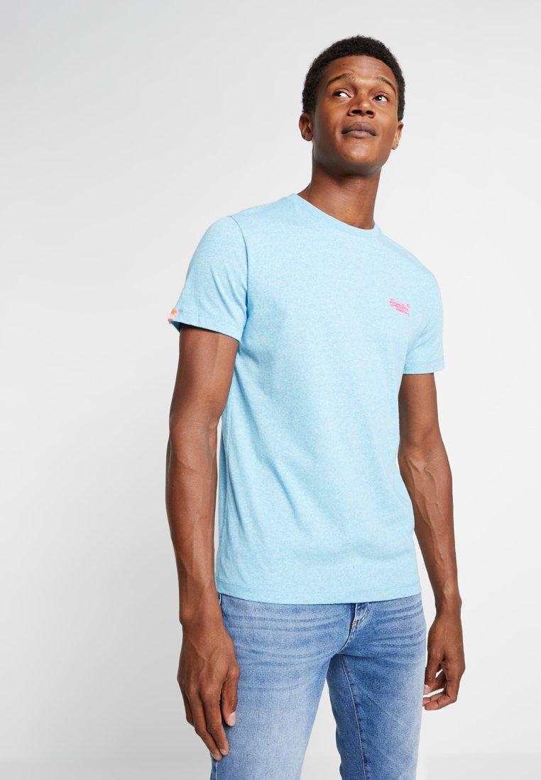 Superdry - FLURO GRIT TEE - T-shirt basic - fluro blue grit